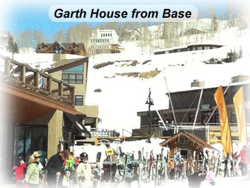 view to garth house from base in Crested Butte