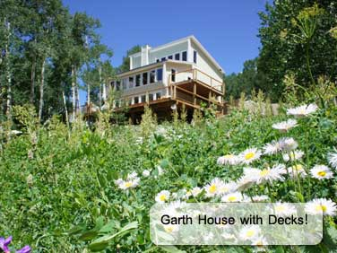 beautiful new Garth house in Crested Butte