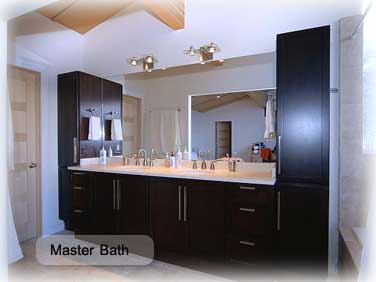 master bath in Garth house in crested butte