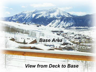 view to base from garth house in Crested Butte