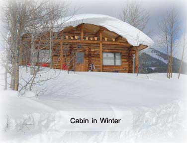 Gunnison cabin in winter