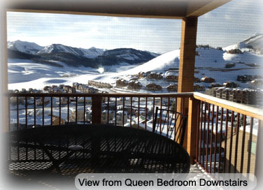 crested butte condo downstairs queen