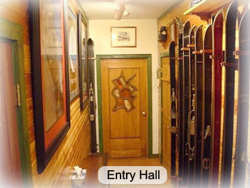 entry hall to ski haus crested butte
