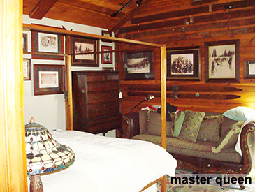 master bedroom at the skihaus in Crested Butte