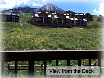 View from the decks at the Skihaus- 4 bedroom house for rent in Crested Butte