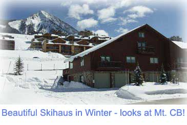 Winter at the 5 bedroom Skihaus for rent in Crested Butte Colorado