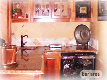 bar area of the bienasz home in crested butte