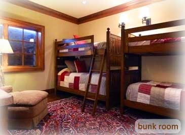 bunk room of bienasz home in crested butte