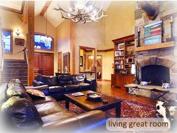 living room of bienasz home in crested butte