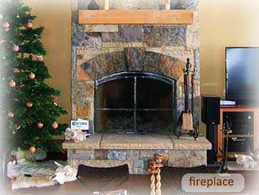 fireplace of bienasz home in crested butte