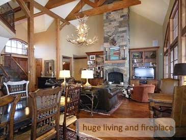 living room of bienasz house crested butte