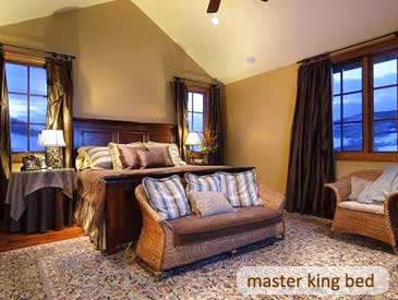 master bedroom of bienasz home in crested butte