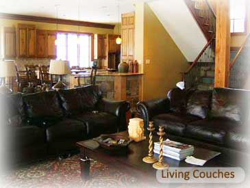 living room of bienasz rental home in crested butte