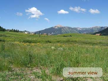 summer view of bienasz home in crested butte