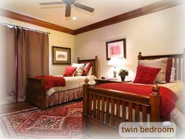 twin bedroom at the bienasz rental home in crested butte