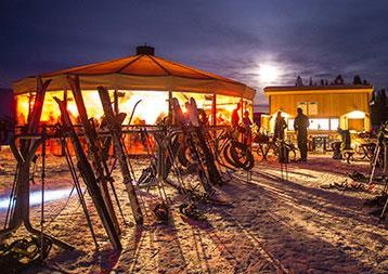 full moon at ten peaks - umbrella bar crested butte