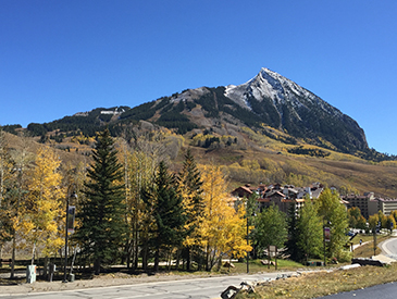 view of mt crested butte from the two bedroom at the Three Seasons in Crested Butte